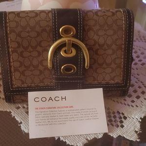 Coach suede wallet
